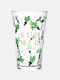 1PC 450ML Whale Plant Pattern Home Outdoor Double-use Straw Lid Bottle Cup Glasses With Measuring Scale Water Cup - 1PC Cactus Cup