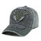 Outdoor Embroidery Personalized Edging Washed Denim Baseball Cap Sunshade Hat - Black