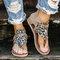 Plus Size Women Casual Leopard Pattern Clip Toe Zipper Gladiator Sandals - Leopard