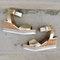 Women Slip Resistant Buckle Strsap Casual Platform Wedges Sandals - Gold