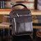 Men Genuine Leather Waist Bag Vintage Sling Bag Dual-use Handbag - Brown 2