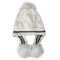 Women Matching Knit Hat And Glove Winter Set Cap With Ear Flaps Beanie Hat with Faux Fur Pom Pom - #05