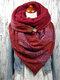 女性のスカーフショールラップ多用途の厚い暖かさのショール印刷スカーフ - 赤
