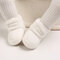 Baby Toddler Shoes Cute Comfy Plush Warm Soft Sole Hook Loop Snow Boots - White