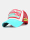 Unisex Cotton Patch Letter Embroidery Pattern Fashion Hip-hop Style Sunshade Baseball Hat - Red2