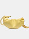 Women Solid Casual Shoulder Bag - Yellow