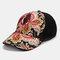 Women's Sunscreen Baseball Cap National Embroidery Flower Visor Outing Cap - #01