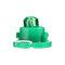 4 / 10PCS T4ウェッジLED電球計器ダッシュボードダッシュ気候ベースランプライト  - 緑