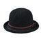 Cappello da pescatore a forma di fiocco semplice da donna Cappellino in ciniglia elegante e selvaggio Cappello regolabile confortevole - Nero