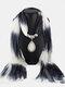 Bohemian Chiffon Gradient Scarf Necklace Drop-Shape Pendant Women Necklace - #03