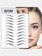 3D Eyebrow Tattoo Sticker Long Lasting Waterproof False Eyebrows Cosmetics - 16 Black