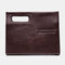 Herren Kunstleder Vintage Business Handtasche Simple Style Bag