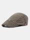 पुरुषों सूती ठोस रंग आकस्मिक फैशन Sunvisor फ्लैट टोपी आगे टोपी टोपी टोपी - हरा