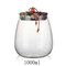 Cork Transparent Glass Tea Cans Sealed Fower Tea Pots Candy Food Grain Storage Tanks - Blue