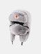男性と女性の防寒冬用トラッパーハットマスクトラッパーハット付きの厚い冬用ハット耳栓 - #04