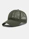 Unisex Mesh Breathable Outdoor Sonnenschutz Solid Trucker Hut Baseball Hut - Grün