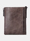 Men Vintage RFID Genuine Leather Cow Leather Multi-card Slots Coin Purse Wallet - Coffee