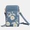 Women Daisy Clutch Bag Card Bag Phone Bag Crossbody Bag - Blue