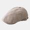Outdoor Linen Thin Beret Hat Literary Forward Hat - Khaki
