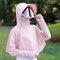 Cycling Cap Clothing Sun Shawl Clothing Cover Face Cap - Pink