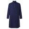 Mens Pathani Kurta Pajama Indian Long T-shirts Cotton Ethnic Suit Solid Autumn Long Sleeve Top - Navy