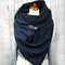 Women Solid Color Scarf Shawl Wrap Versatile Thick Warmth Shawl Scarf - Blue