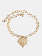 Luxury 26 English Letters Women Anklet Wild Heart Pendant Anklet Jewelry Gift - K