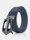 Men Nylon 120cm Automatic Buckle Tactical Outdoor Business Jeans Belt - Blue