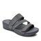 Plus Size Women Rhinestone Opened Toe Hook Loop Platform Casual Slide Sandals - Gray
