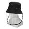 Anti-spitting Protective Mask Hat Anti-fog Anti-Splash Fisherman Full Face Cap   - Black