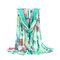 Женское Цветочный принт Bohemia Travel Пляжный Солнцезащитный крем Винтаж Vogue Cotton Soft Платок из шелкового шарфа