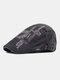 पुरुषों के पत्र कढ़ाई आकस्मिक फैशन Sunvisor फ्लैट टोपी आगे टोपी टोपी टोपी - धूसर