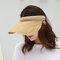 Women Collapsible Summer Shading Empty Top Hat - Khaki