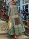 Bohème imprimé floral plage été Plus taille maxi robe - vert