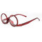 Women  Rotatable Magnify Eye Makeup Cosmetic Glasses Reading Glasses Flip-cover Glasses