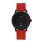 CHRONOS Calendar Waterproof Mens Watches Ultra Thin Case Quartz Leather Minimalist Watches for Men - Red