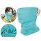 Unisex Breathable Quick-Drying Sunshade Anti-UV400 Flexible Soft Multi-Functional Face Mask Hat - Blue