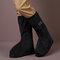 Mujer al aire libre Thicken Impermeable Antideslizante para lluvia a media pantorrilla Botas Fundas - Negro