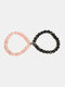 1 Pair Vintage Magnet Attract Couple Bracelet Crystal Stone Beaded Bracelet Valentine's Day Gift Boyfriend Gifts - #05