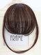 Mini Bangs Air Bangs Hair Extensions No-Trace Bangs Wig Piece - MN86 Dark Brown