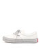 Women Casual Canvas Lace Up White Skate Shoes - White