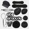 14Pcs DIY Hair Styling Accessories Kit Pads Hairpins Roller Braid Twist Sponge Modelling Hairdress Braid Tools Kit Set - 2