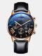 11 Colors Men Business Watch Leather Alloy Mesh Band Calendar Luminous Quartz Watch - #08