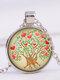 Vintage Gemstone Glass Printed Women Necklaces Landscape Tree Pendant Necklaces - #03