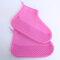 Women Waterproof Dustproof Shoes Protector Transparent Latex Non Slip Foot Cover  - Rose