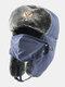 男性防寒冬用トラッパーハットマスクトラッパーハット付き厚手の冬用ハット耳栓 - #06