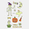 Halloween Luminous Tattoo Children Cartoon Stickers Body Art Waterproof Fake Temporary Tattoo Transfer Paper - 07
