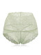 High Waisted Lace Cotton Crotch Tummy Shaping Butt Lifter Panty - Green