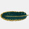 بنوم بنه الظلام أخضر ريشة الموز ليف لوحة المجوهرات الرجعية لوحة تخزين لوحة الحلوى لوحة تزيين المنزل - أخضر غامق
