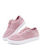 Large Size Soft Comfy Breathable Solid Color Knit Elastic Band Sneakers For Womens - Pink